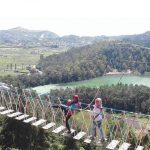 Dinda Yuka on Jembatan Merah Putih
